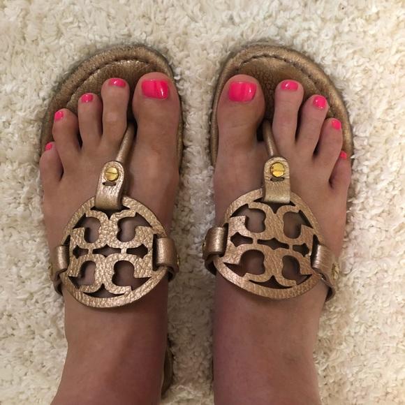 fc668c94da8d Tory Burch Rose Gold Miller Sandals. M 5b38027e3e0caa5e232094b3